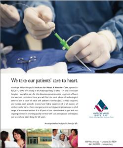 Ad for AVH's Institute for Heart & Vascular Care